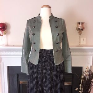 Old Navy | Olive Collarless Blazer